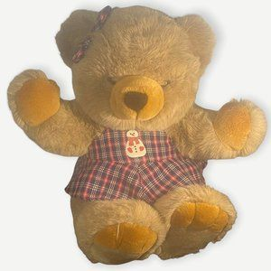 JCPenney Holiday Collection Teddy Bear Plush Brown Large Big Christmas Dress 29″